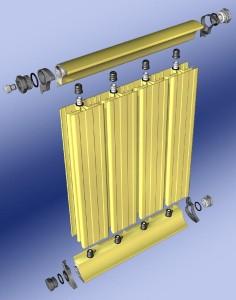 Tagosított radiátor felépítése