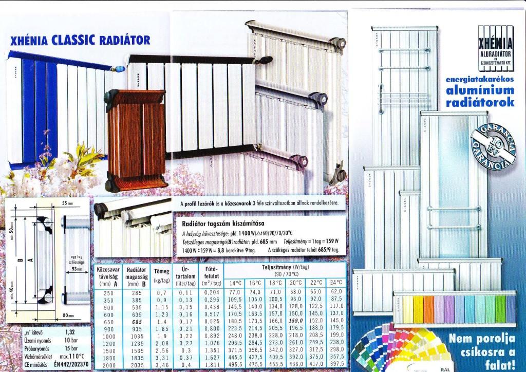 Xhénia energiatakarékos alumínium radiátorok-page-001