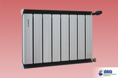 Fehér alumínium radiátor fekete kerettel